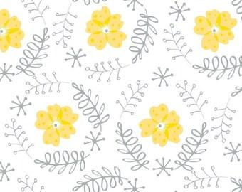 Floral Wreath, Flutter & Buzz, 6141803-02, Camelot Fabrics, multiple quantity cut in one piece, 100% Cotton