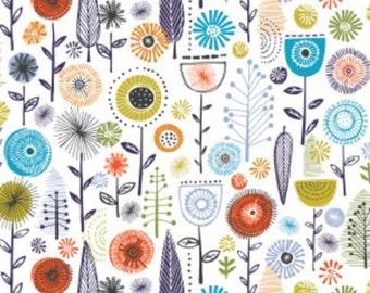 Flower, white, 30180404, col 01, Camelot Fabrics, cotton, cotton quilt, cotton designer