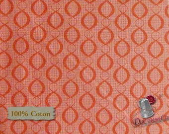 END OF BOLT, The Beach House, Camelot Cotton, coral, 100% Cotton