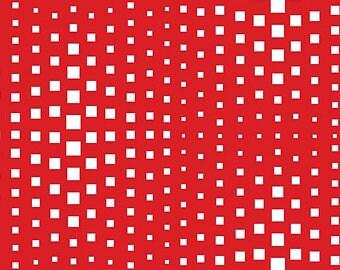 Carré, rouge, blanc, 3428, Benartex, cotton, cotton quilt, cotton designer