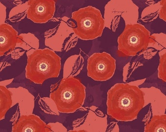 Poppy, Rd, 26170206J, 02, Mulberry Bloom, Sara Berrenson, Camelot Fabrics, 100% Cotton, quilt cotton