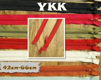 YKK, double slider, Zipper, SEPARABLE, nylon, 42cm, 45cm, 57cm, 58cm, 64c, 66cm, clothes, creation, ZG4266