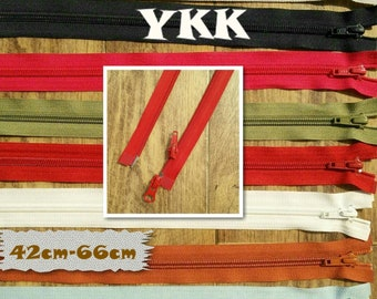 YKK, double slider, Zipper, SEPARABLE, nylon, 42cm, 45cm, 57cm, 58cm, 64c, 66cm, clothes, creation, ZG4266, (Reg 7.49-9.99)