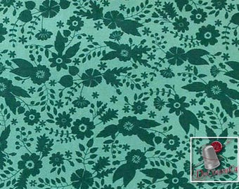 Flourish, 3240204, col 02, Ciana Bodini, Camelot Fabrics, flower,teal, multiple quantity cut in one piece, 100% Cotton
