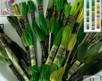50%, Green, 10 Embroidery, thread, DMC, Mouliné 25, art 117 No. 25, liquidation