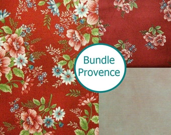"3 X 1/4 verge, 99""X44"", Flowers of provence, by Mary Carey of Holly Quilt Designs, Henry Glass, Cotton"