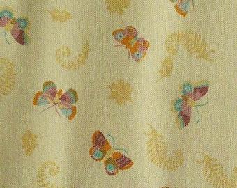 Butterfly, peach, 66180204, col 02, Autumn Impressions, Camelot Fabrics, cotton, cotton quilt, cotton designer