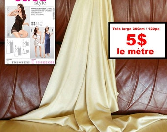 Petticoat fabric, very wide 300cm / 120in, polyester, slightly stretchy, super light,slippery,