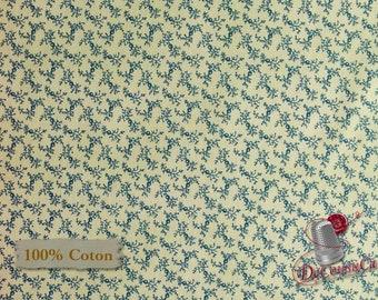 Leaf, navy, beige, St-Louis, Evonne Cook, 26837, Washington Street Studio, multiple quantity cut in one piece, 100% Cotton
