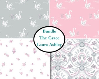 4 prints, The Grace, Laura Ashley, Camelot Fabrics, Bundle, 1 of each print, 100% coton