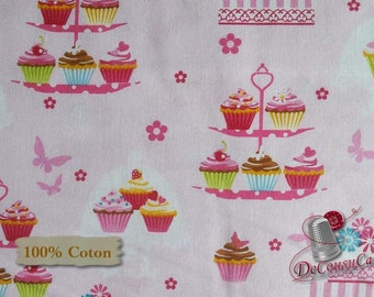 VENTE, Cupcake, Cupcake Cafe, Laura Stone, #3892, Studio e, multiple quantity cut in one piece, 100% Cotton
