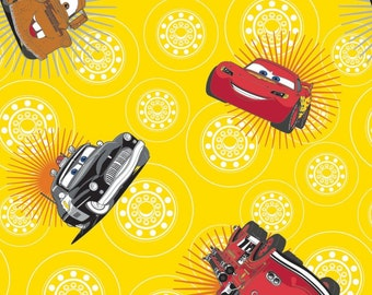 Disney, Pixar, Cars, yellow, 85070106, col 01, Camelot Fabrics, 100% Cotton, quilt cotton