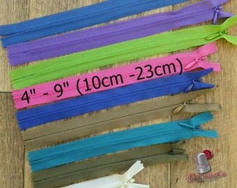 "KKF, INVISIBLE, 4"" - 9"", (10cm - 23cm), varied color, varied size, nylon, perfect for wallets, clothing, repair, creation, Z4-9"
