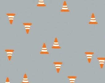 Construction cones, grey, 27190105, col 03, On the Move, Camelot Fabrics, cotton, cotton quilt, cotton designer
