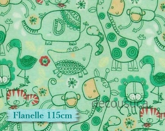 Flannel, Animal jungle, Camelot, #9150011B, ment, many yards will be cut as one continuous piece, 100% Cotton