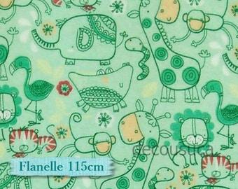 """Fat quarter, 18""""X22"""",, 45cm X 55cm, Flannel, Animal jungle, Camelot, #9150011B, ment, Cotton"""