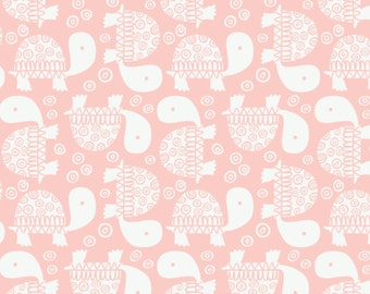 END OF BOLT, Turtles, pink, 9140702-01, Camelot Fabrics, multiple quantity cut in one piece, Cotton