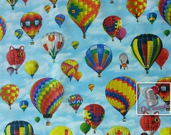 Elizabeth's Studio, air balloon, air balloon, multiple quantity cut in one piece, 100% Cotton, (Reg 2.99 - 17.99)