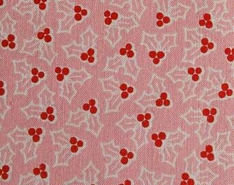 Mistletoe, pink, Cozy Christmas, 7973, Riley Blake, fabric, cotton, quilt cotton