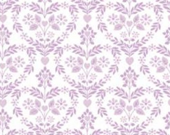 Nordic floral heart, pink-lilac, white, 71190103, col 02, The Girls Collection, Camelot Fabrics, cotton, cotton quilt, cotton designer