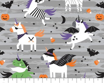 Halloween Unicorns, It's Always Unicorn Season, 89191101, col 01, fabric, cotton, quilt cotton