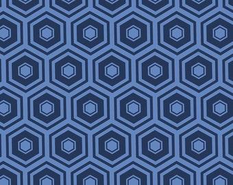 Navy, honeycomb, 2142, col 17, Mixology, Camelot Fabrics, cotton, cotton quilt, cotton designer