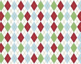 Christmas Adventure, Riley Blake Designs, Christmas fabric 100% cotton, #10736 WHITE