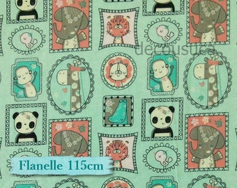 Flannel, Baby, animal, jungle, Camelot Cotton, multiple quantity cup in a pièce, Flannel 100% high quality cotton