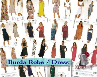 70%, 11 models, Burda, Dress, 8-20, new, uncut,