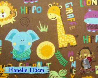 Flannel, jungle animals, many yards will be cut as one piece, (Reg 2.99 - 12.95)