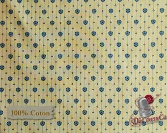 Navy, beige, St-Louis, Evonne Cook, 26839, Washington Street Studio, multiple quantity cut in one piece, 100% Cotton