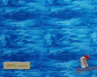 Blue royal, Mosaïc Foest, Studio E, 4199, multiple quantity cut in one piece, 100% Cotton