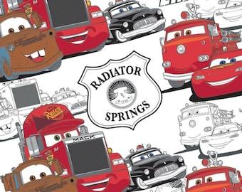 END OF BOLT, Disney, Pixar, Cars, 5070107, col 03, Camelot Fabrics, 100% Cotton, quilt cotton