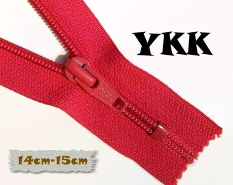 YKK, 14cm-15cm, Zipper, Cursor 5C, Taupe, 5 1/2-6 Inch, Metal Slider, Zipper, Non-Detachable, vintage, 1980, Z07