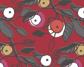 Melba in Red, 38170103, 01, Lintu, Finlayson, Camelot Fabrics, 100% Cotton, quilt cotton, (Reg 2.99 - 17.99)