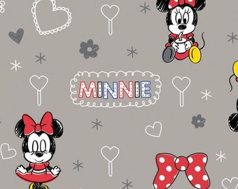 Disney, Minnie, zinc, 85270106, col 2, Mickey Mouse et Friends, Camelot Fabrics, , 100% Cotton