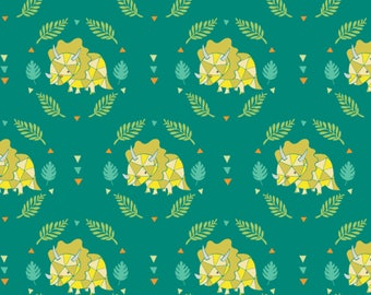 Triceratops, 6141706-02, You are Dino-Mite, Camelot Fabrics, multiple quantity cut in one piece, 100% Cotton, (Reg 3.99 - 17.99)