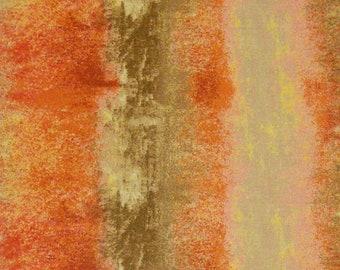 Orange, brown, Édition Fabric, multiple quantity cut in one piece, 100% Cotton