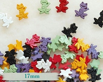 12 ou 25 Buttons, 17mm, Frog, craft button, décorativ button, vintage, choice colors, BF03
