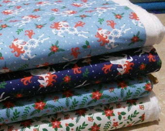 Bundle 4 prints, Unicorn season of Camelot Fabrics, Quilt cotton, 1 of each