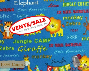 50%, Jungle animal, Jungle Camp, 3865, Studio E, multiple quantity cut in 1 piece, (Reg 3.76-21.91)