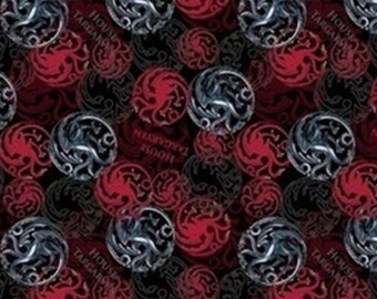 House Targaryen, Springs Creatives, CP64398, 100% Cotton, quilt cotton