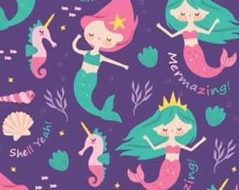 Mermaid, Very Punny, 21181705, Camelot Fabrics, cotton, cotton quilt, cotton designer