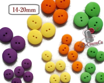 Basics Boutons, 20 X 14mm et 12 X 20mm, 4 colors, BA65, (Reg 4.80)