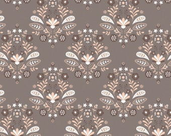 Damask, Taupe, 2144704-03, Camelot Fabrics, multiple quantity cut in one piece, 100% Cotton, (Reg 2.99-17.99)