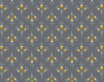 Joséphine, flowers, iron, 2143803, col. 03, Camelot Fabrics, multiple quantity cut in one piece, 100% Cotton,  (Reg 3.99)