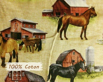Horse, Blank Quilting, Country Paradise, patt 9357, 100% Cotton