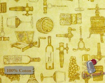 Wine, beige, Quilting Treasures, multiple quantity cut in one piece, 100% Cotton, (Reg 2.99 - 17.99)