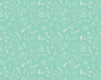Under the sea, aqua, 6141607, col 01, Camelot Fabrics, multiple quantity cut in one piece, 100% Cotton
