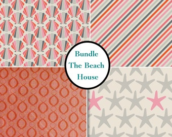 4 prints, 1 of each, Beach House, Camelot Cotton,